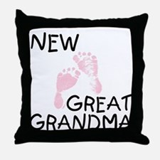 New Great Grandma (pink) Throw Pillow