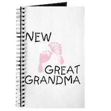 New Great Grandma (pink) Journal