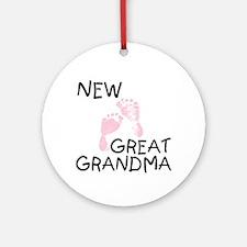 New Great Grandma (pink) Ornament (Round)