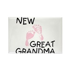 New Great Grandma (pink) Rectangle Magnet