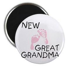 New Great Grandma (pink) Magnet