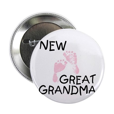 "New Great Grandma (pink) 2.25"" Button (100 pack)"