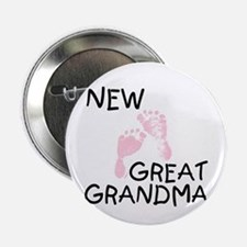 New Great Grandma (pink) Button