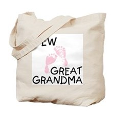 New Great Grandma (pink) Tote Bag