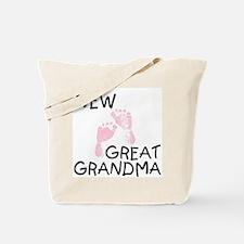 New Great Grandma (pink) Tote Bag