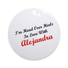 In Love with Alejandra Ornament (Round)