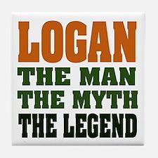 LOGAN - the legend! Tile Coaster