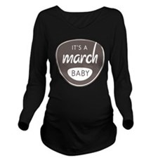Grey March Long Sleeve Maternity T-Shirt
