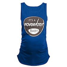 Grey November Maternity Tank Top