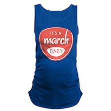 Salmon March Maternity Tank Top
