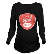 Salmon April Long Sleeve Maternity T-Shirt