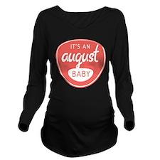 Salmon August Long Sleeve Maternity T-Shirt
