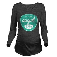 Sea August Long Sleeve Maternity T-Shirt