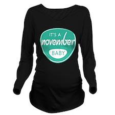 Sea November Long Sleeve Maternity T-Shirt