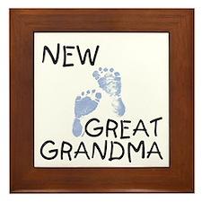 New Great Grandma (blue) Framed Tile