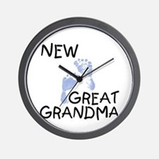 New Great Grandma (blue) Wall Clock
