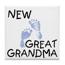 New Great Grandma (blue) Tile Coaster