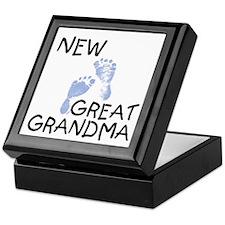 New Great Grandma (blue) Keepsake Box
