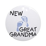 Great grandma Round Ornaments