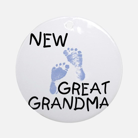 New Great Grandma (blue) Ornament (Round)