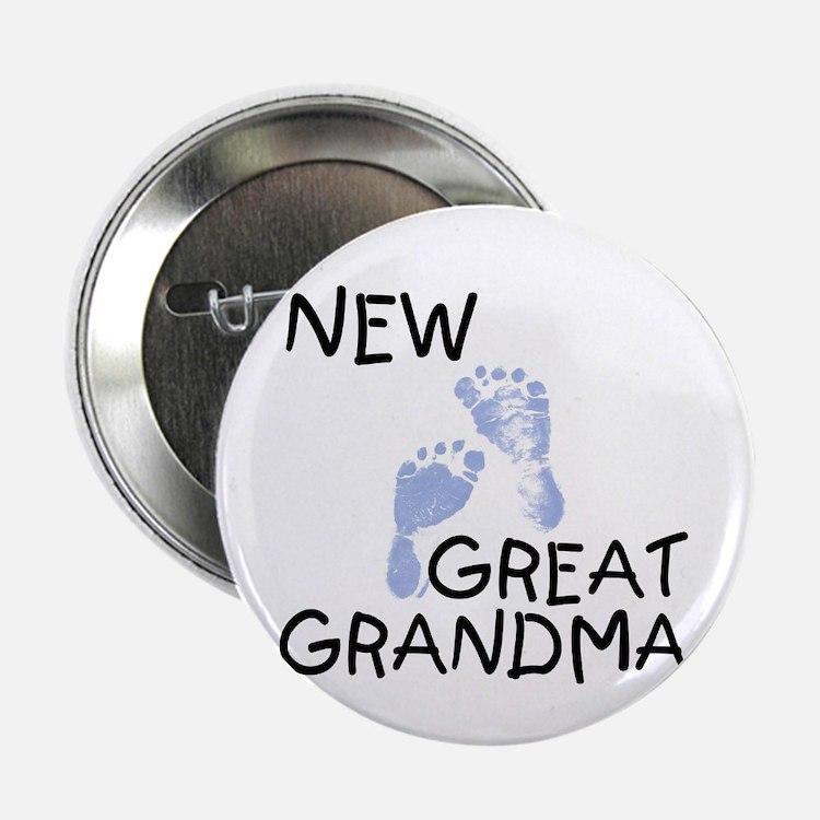 New Great Grandma (blue) Button