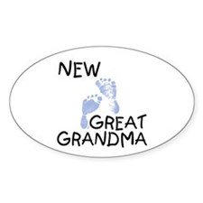 New Great Grandma (blue) Oval Decal