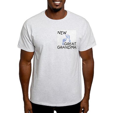 New Great Grandma (blue) Ash Grey T-Shirt