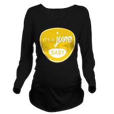 Yellow June Long Sleeve Maternity T-Shirt