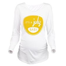 Yellow July Long Sleeve Maternity T-Shirt