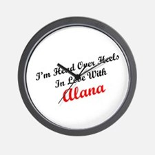 In Love with Alana Wall Clock