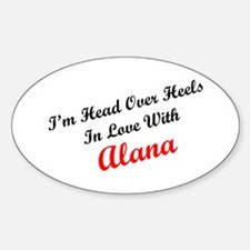 In Love with Alana Oval Decal