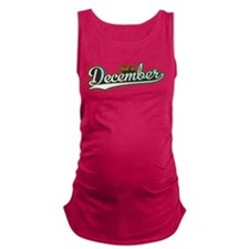 Sporty Baseball December Maternity Tank Top