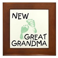 New Great Grandma (green) Framed Tile