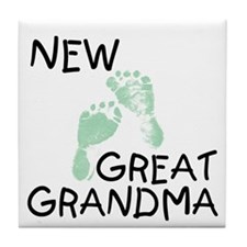 New Great Grandma (green) Tile Coaster