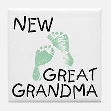 New Great Grandma (green) Tile Coaster