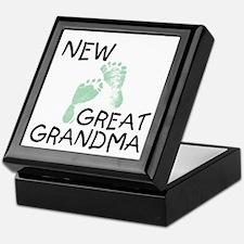 New Great Grandma (green) Keepsake Box