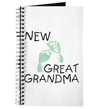 New Great Grandma (green) Journal