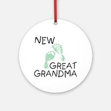 New Great Grandma (green) Ornament (Round)