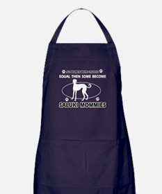Become saluki mommy Apron (dark)