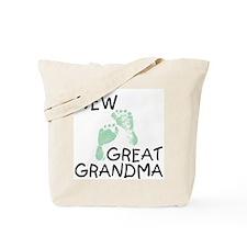 New Great Grandma (green) Tote Bag