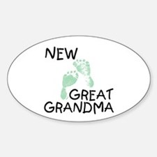 New Great Grandma (green) Oval Decal
