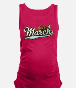 Sporty Baseball March Maternity Tank Top