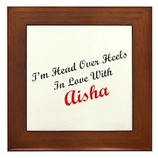 In Love with Aisha Framed Tile