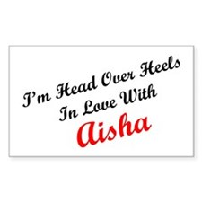 In Love with Aisha Rectangle Decal