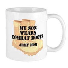 Army Mom Son Desert Combat Boots Mugs