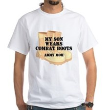 Army Mom Son Desert Combat Boots T-Shirt