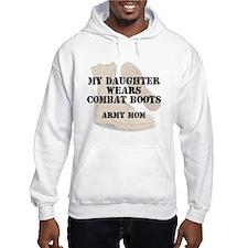 Army Mom Daughter wears DCB Hoodie