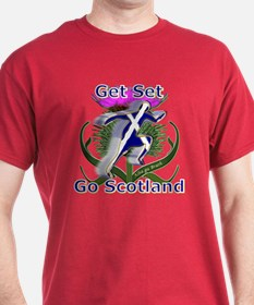 Scotland running designer T-Shirt