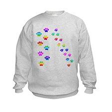 Rainbow paw prints Sweatshirt