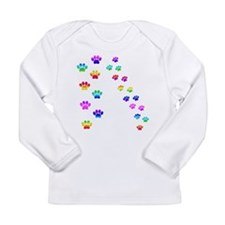 Rainbow paw prints Long Sleeve T-Shirt